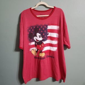 Disney Store American Flag Mickey Mouse Red Shirt